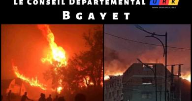La Kabylie brûle, le Conseil Départemental URK de Bgayet réagit
