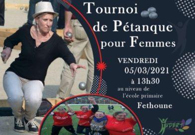 Ichelladhen : Tournoi féminin de la pétanque